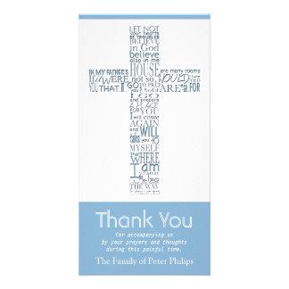 Christian Cross John 14:02 - Sympathy Thank You 9 Customised Photo Card