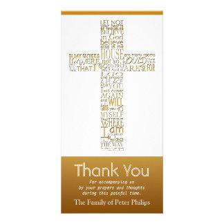 Christian Cross John 14 Sympathy Thank You 2 Photo Card Template