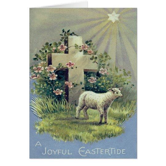Christian Cross Lamb Star Card