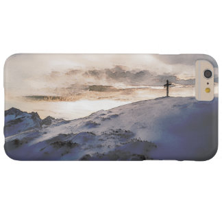 Christian Cross On Mountain Barely There iPhone 6 Plus Case