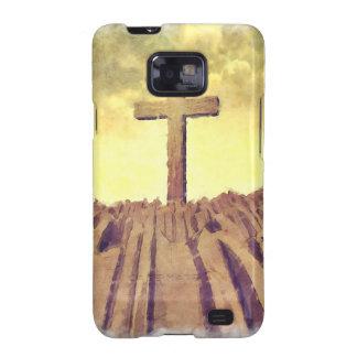 Christian Cross On Mountain Samsung Galaxy SII Covers