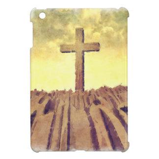Christian Cross On Mountain iPad Mini Cover