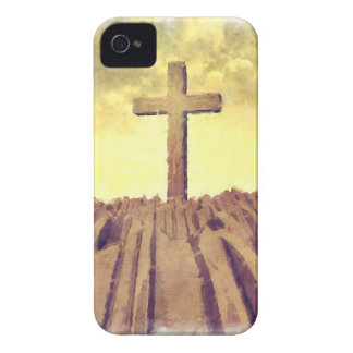 Christian Cross On Mountain iPhone 4 Cases