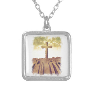 Christian Cross On Mountain Jewelry