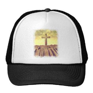 Christian Cross On Mountain Mesh Hats