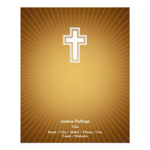 Christian Cross on orange background Flyers