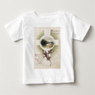 Christian Cross River Purple Flower Tee Shirt