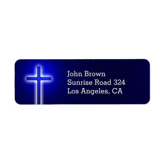 Christian Cross | Share your Faith Return Address Label