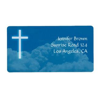 Christian Cross Shipping Label