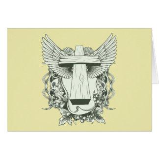 Christian Cross - Skulls - Wings Cards