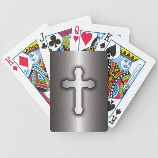 Christian Cross (Steel) Poker Deck