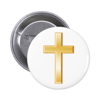 Christian Cross Symbol 6 Cm Round Badge