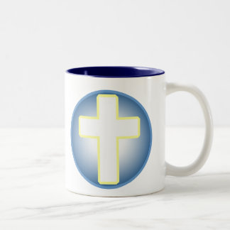 Christian Cross Two-Tone Mug