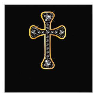 Christian Cross with Onyx Stones Announcement