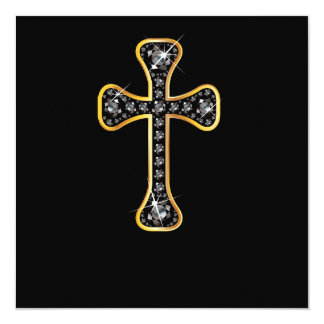 """Christian Cross with """"Onyx"""" Stones Announcement"""