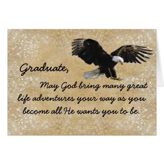 Christian Eagle Graduate Greeting Card