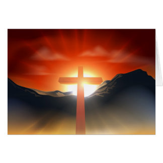 Christian Easter cross concept Greeting Card