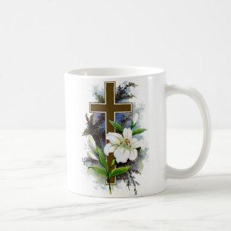 ~ Christian Easter Cross Mug~ Basic White Mug