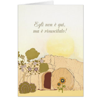 Christian Easter wishes in Italian (He is risen) Card