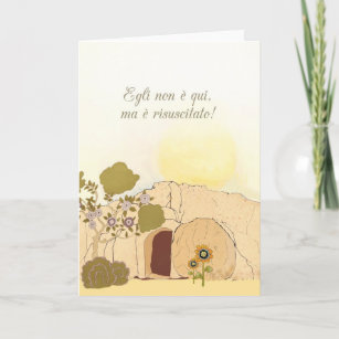 Italian religious easter gifts gift ideas zazzle uk christian easter wishes in italian he is risen christmas card negle Images