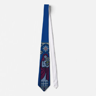 Christian embroidery tie
