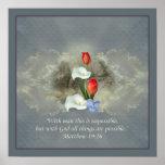 Christian Faith Art ~ Matthew 19:26 Poster