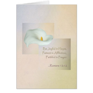 Christian Faith Art ~ Romans 12:12 Card