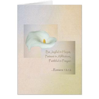 Christian Faith Art ~ Romans 12:12 Greeting Card