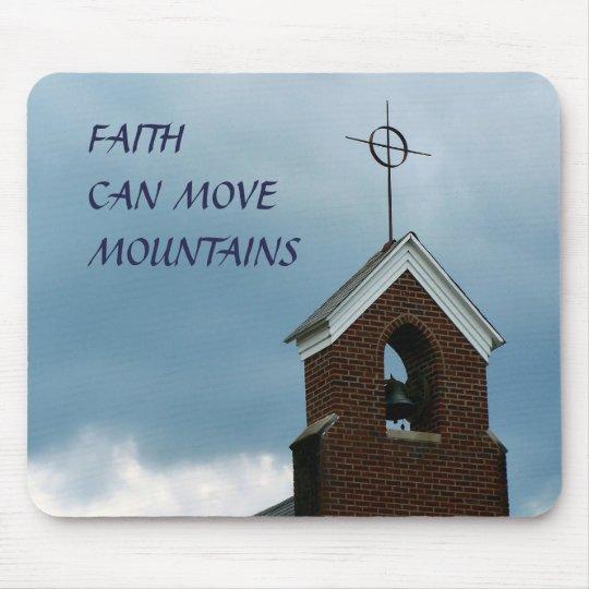 Christian Faith Can Move Mountains Church Steeple Mouse Mat