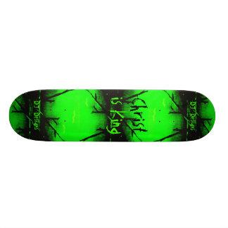 Christian Faith Christ is King Skateboard