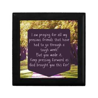 Christian Faith Praying For My Friends Gift Small Square Gift Box
