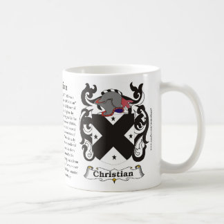 Christian Family Coat of Arms Mug