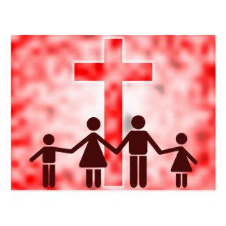 Christian Family Postcard