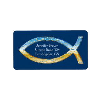 Christian Fish Address Label