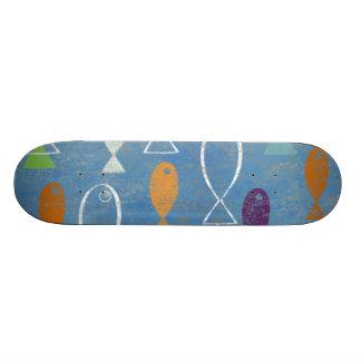 Christian Fish Art Custom Skateboard
