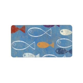 Christian Fish Art Label