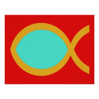 Christian Fish Symbol Full Color Flyer