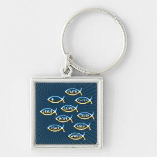 Christian Fish Symbol Key Ring