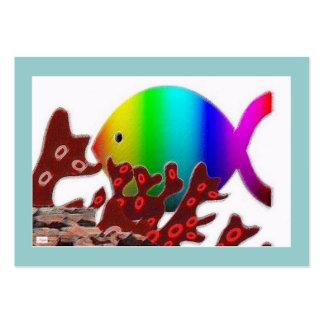 Christian Fish Symbol - Rainbow Ocean Business Card Templates
