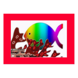 Christian Fish Symbol - Rainbow Ocean Pack Of Chubby Business Cards