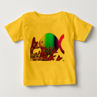 Christian Fish Symbol - Rainbow Ocean Shirt
