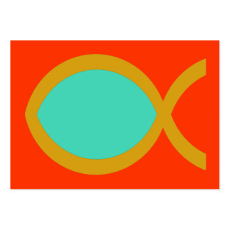 Christian Fish Symbol Tract Card Business Card Template