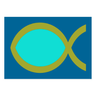 Christian Fish Symbol Tract Card / Pack Of Chubby Business Cards