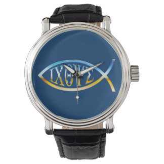 Christian Fish Symbol Watch