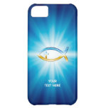 Christian Fish Symbols on blue background iPhone 5C Covers