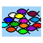 Christian Fish Symbols - Rainbow School - Full Color Flyer