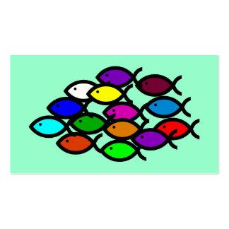 Christian Fish Symbols - Rainbow School - Pack Of Standard Business Cards