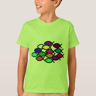 Christian Fish Symbols - Rainbow School - T-Shirt