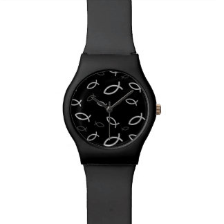 Christian Fish Symbols Wristwatch