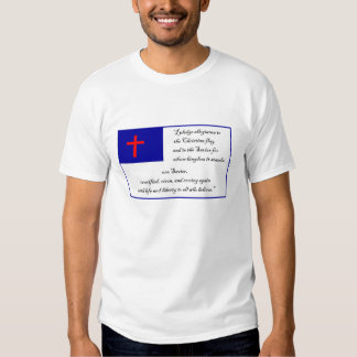 Christian Fkag and Pledge to the Christian Flag T-shirt